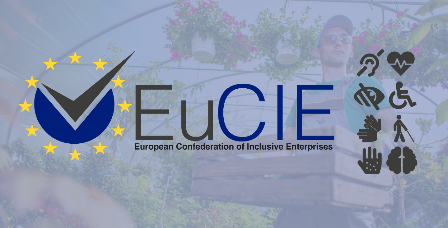 Logo of EuCIE and icons representing disabilities